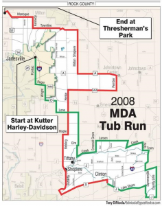 2014 Tub Run Map