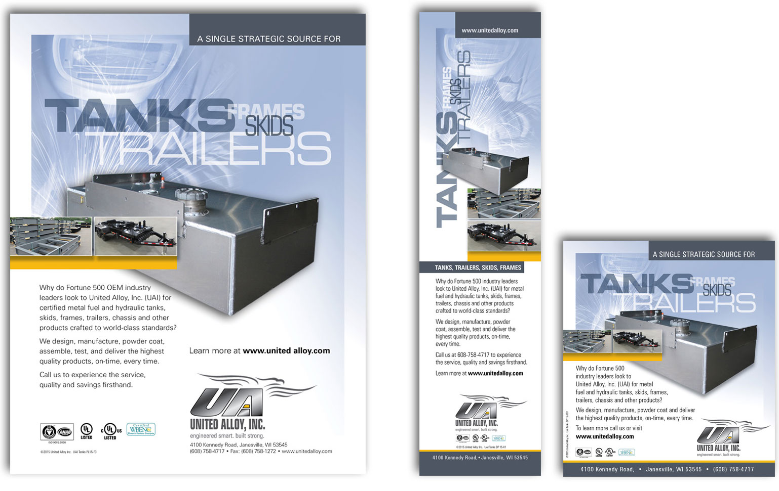 UAI National Ads - Tanks - Trailers - Frames - Skids