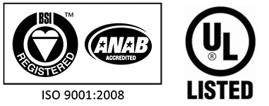 ISO 9001-2008 - UL Listed